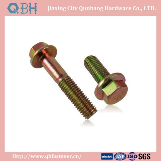 High Quality Manufacturing Hex Flange Bolts (DIN6921 M5-M20 Cl. 4.8/6.8/8.8/10.9/12.9)