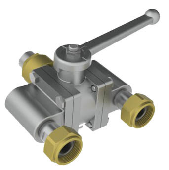 Stainless Steel Three Way Threaded End Ball Valve pictures & photos