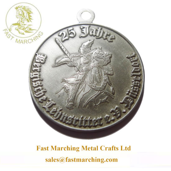 Custom Factory Price Hanger Finisher Medallion Horse Metal Military Medals