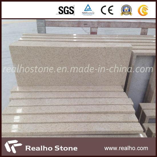 Artificial Stone Beige Quartz Countertop for Kitchen