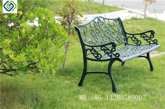 Black Cast Aluminium Garden Patio Bench, Black Cast Aluminium Garden Bench