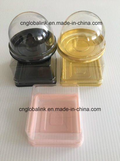 Disposable Plastic Cake Packaging Tray with Lid OEM Accept pictures & photos