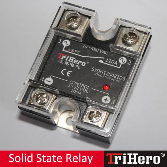 120A DC/AC 1 Phase Solid State Relay SSR