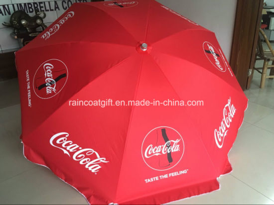 Promotional Beach Umbrella Parasol with Customer's Logo Print