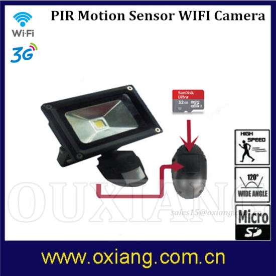 Zr710 WiFi 720p PIR Light Camera with TF Card CMOS 5MP 90degree Camera pictures & photos