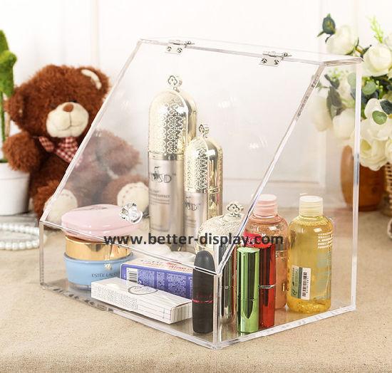Clear Acrlyic Plexiglass Makeup Organizer