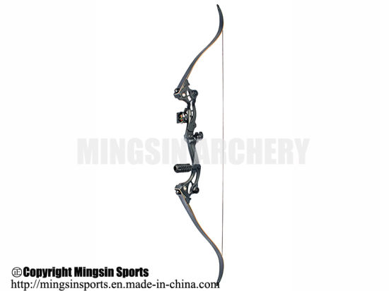 China Recurve Archery Bow 50lbs Draw Weight Black Model F163