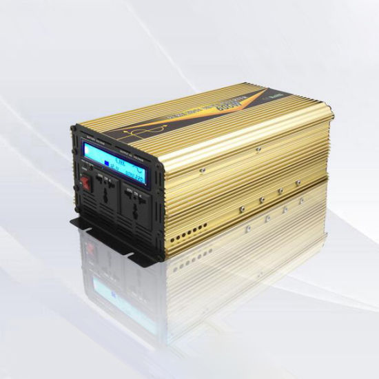 Pure Sine Wave Inverter 600W, Frequency Inverters with UPS Charger, LCD Display pictures & photos