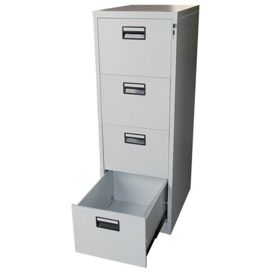 Metal Furniture Four Drawer Storage Chest Office Filing Cabinet pictures & photos