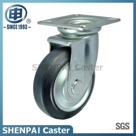 Japan Style Steel Core Black Rubber Caster Wheel