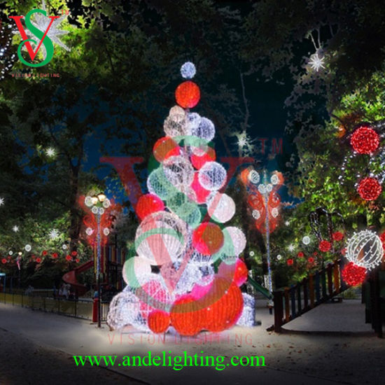 large christmas led tree ball light for outdoor decoration