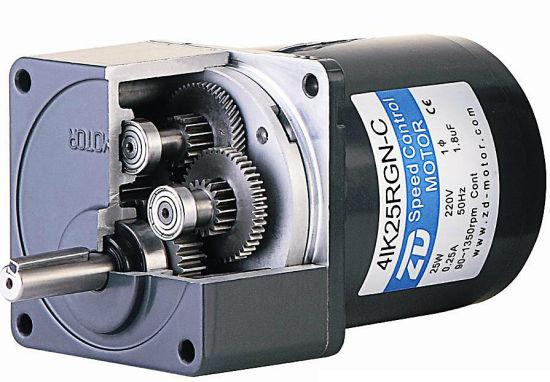 China 80mm AC Speed Control Gear Motor 120V 25W (4IK25RGN-C/4GN 75K ...