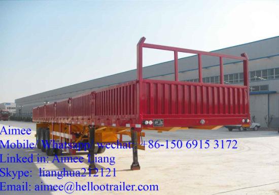 3 Axle 50t Heavy Duty Cargo Box Truck Semi Trailer