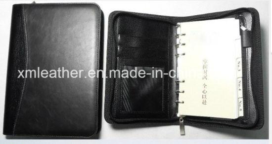 A5 PU Leather Zipper Filofax Organizer with Calculator