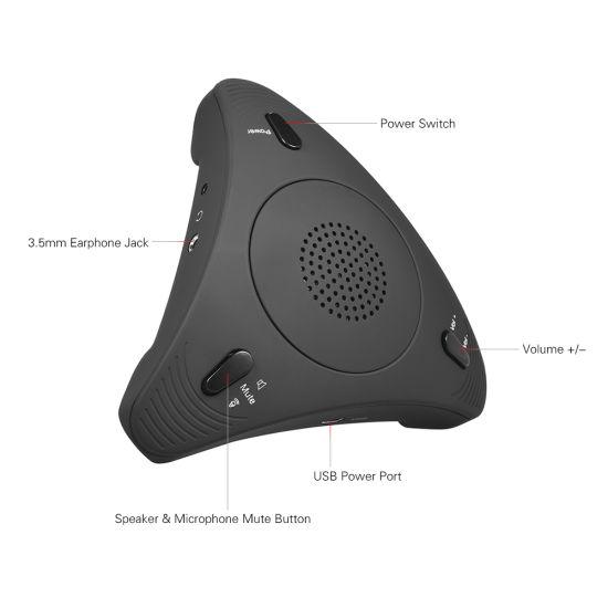 PRO Audio USB Desktop Computer Conference Omnidirectional Condenser Microphone Mic Speaker Speakerphone for Meeting