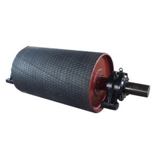 Diamond Rubber Lagged Driving Head Pulley Drum for Conveyor Belt