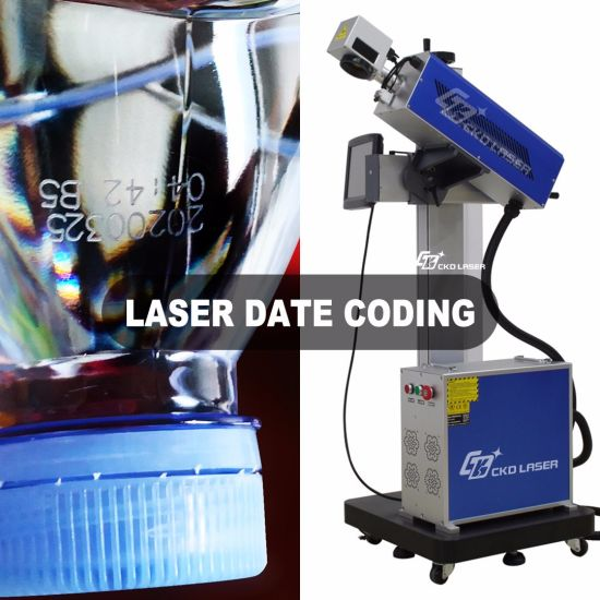 Expiry Date Printing Number Coding Logo Marking Laser Machine for Plastic Water Bottle Pharmaceutical Cosmetics Food PE PP Numbering Qr Bar Codes System