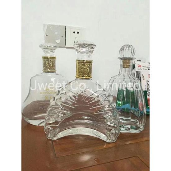 700ml Plating Gold Crystal Glass Vodka Spirit Glass Bottle