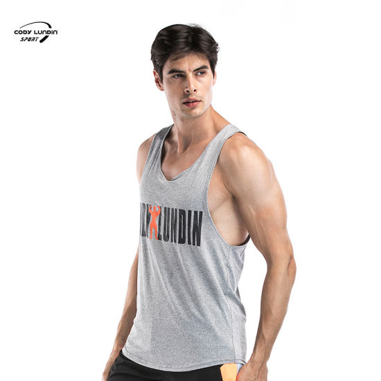 Cody Lundin Men Gym Tank Top Fitness Muscle Patchwork Sleeveless Hooded Vests Casual Bodybuilding Tight-Drying Tank Top