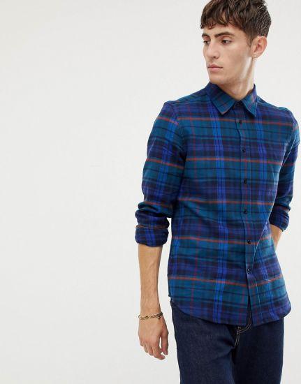 Design Men's High Quality Men's Casual Plaid Flannel Shirt