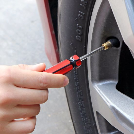 Car Bike Tire Tyre Valve Stem Puller Tool No Scratch Valve Core Tool Built
