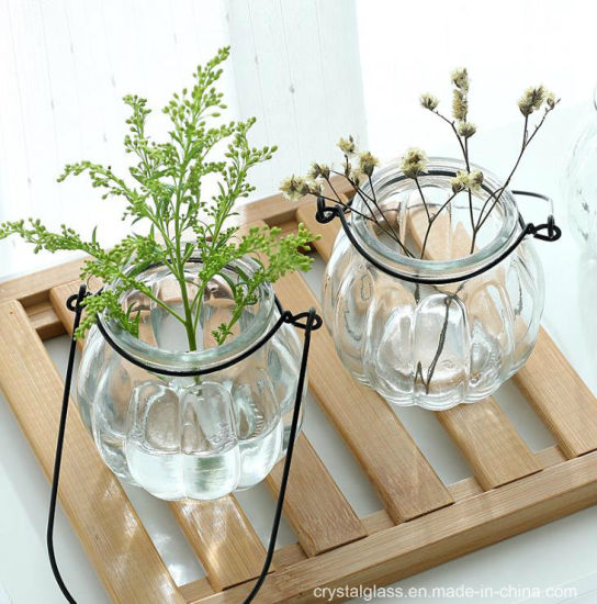 China Small Hanging Glass Vase Terrarium Container Home Office