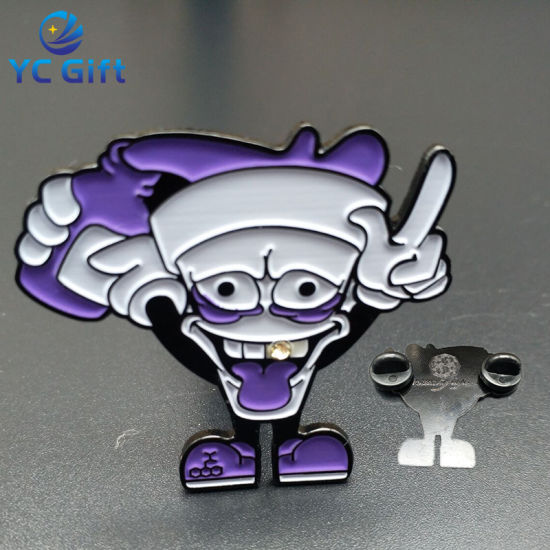Cheap Customized Iron Stamping Nickel Plated Cartoon Enamel Pins (BG78)