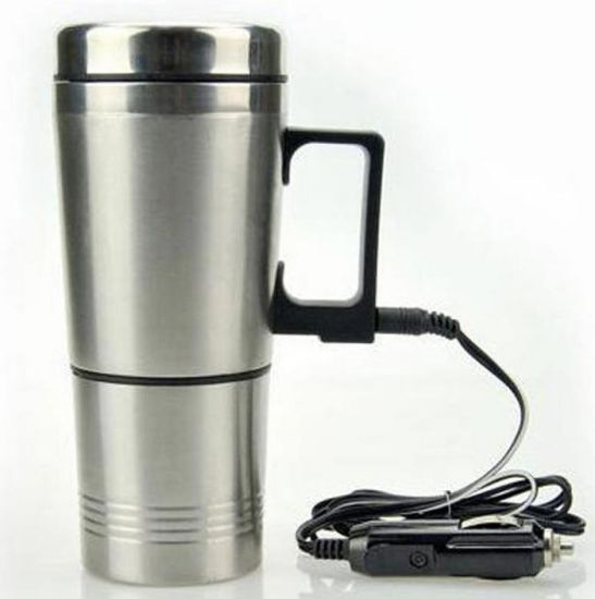 Electric Cup Car Mini Stainless Steel Kettle Travel Trip Car Heated Cup for Coffee Tea pictures & photos
