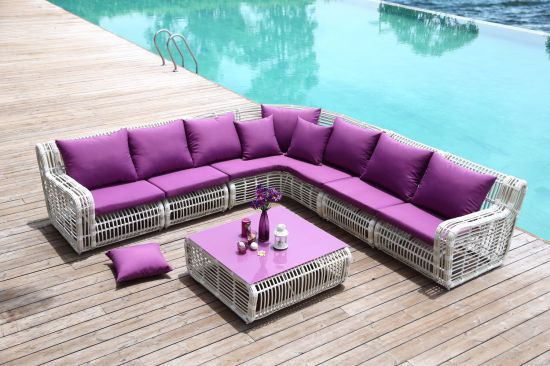 Outdoor Garden Sofa Furniture with High Quality UV Resistant Rattan