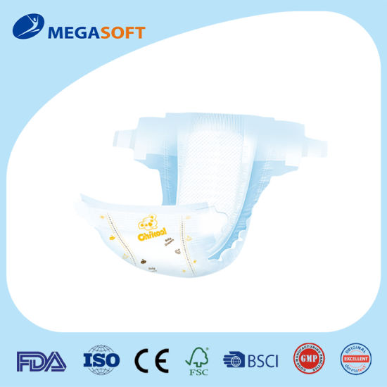 T-Shape Disposable Baby Diaper with Elastic Ears Megasoft Diapers Baby Diaper Manufacture