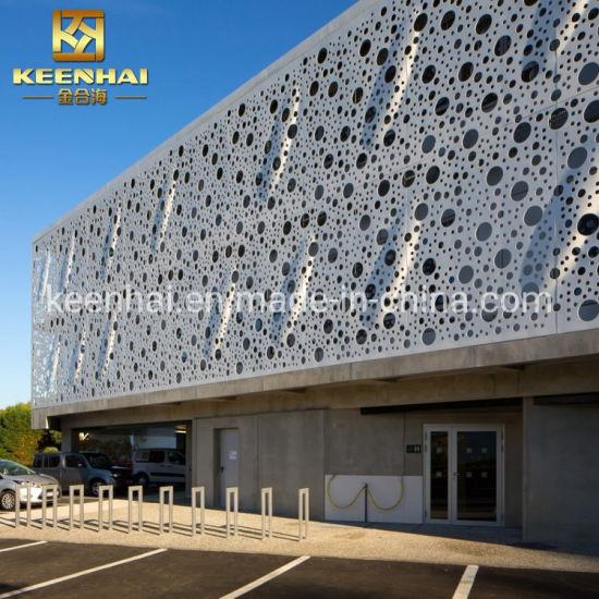 Decorative Exterior Perforated Wall Cladding Aluminium Panel Facade (KH-BH-AP-003)