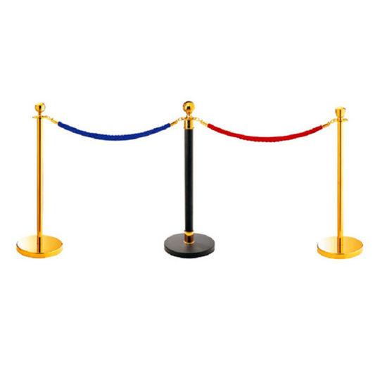 Queue Management System Bollard Velvet Rope Stanchion