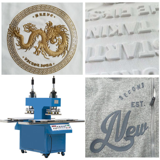 Garment Fabric Textile 3D Hat Bag PVC Rubber Logo Printer Silicone Printing Full Automatic Reflective Heat Transfer Press Label T Shirt Cloth Embossing Machine