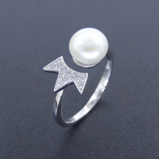 Sample Sterling Silver Pearl Imperial Crown Natural Pearl Jewelry Ring pictures & photos