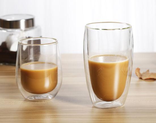 Borosilicate Double Wall Glass Cup for Tea, Expresso, Coffee Mug