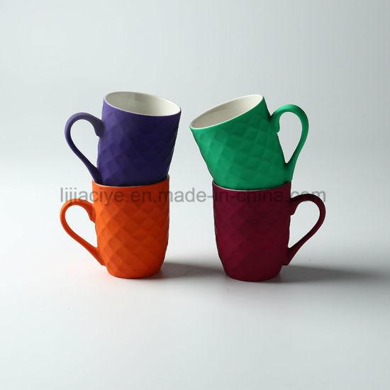 Wholesale Custom Color Ceramic Coffee Mug Beauty in Black Glazed Coating Porcelain Tea Cup