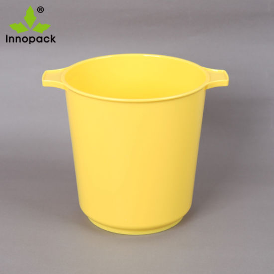BPA Free Champagne Acrylic Oval Plastic Ice Bucket 5L Capacity Party Ice Bucket