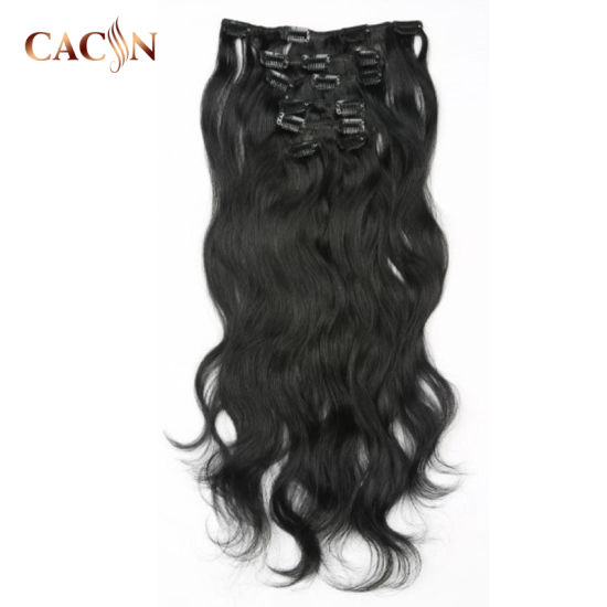Real Remy Curly Blonde Triple Weft Clip in Water Wave Virgin Indian Hair Extensions 20 Inch