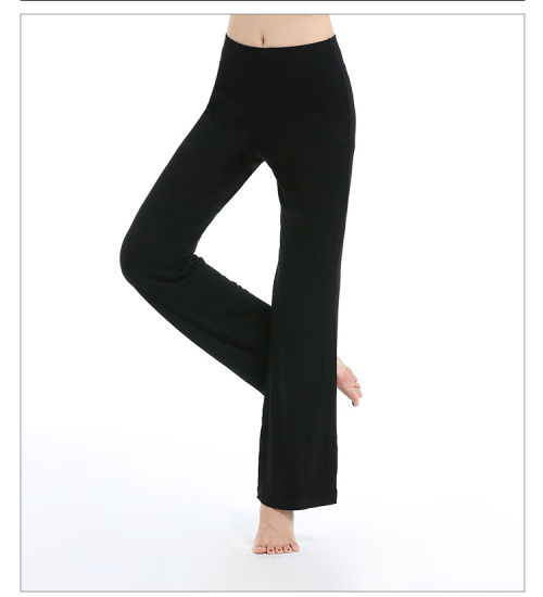 Women′s Color Block Fold Over Waist Yoga Pants pictures & photos
