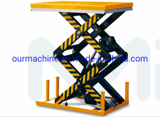 1000kg Stationary Electric Double Scissor Lift Table HD1000
