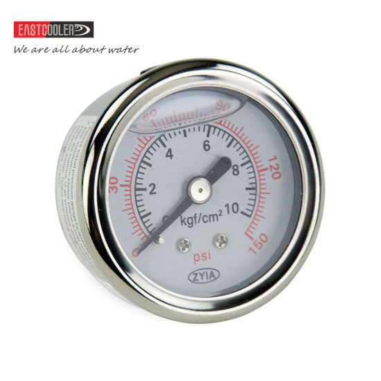304 Single Scale Liquid Filled Pressure Gauge with Brass Internals pictures & photos