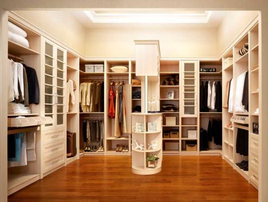China Custom Built in Open Melamine Wardrobes Designs