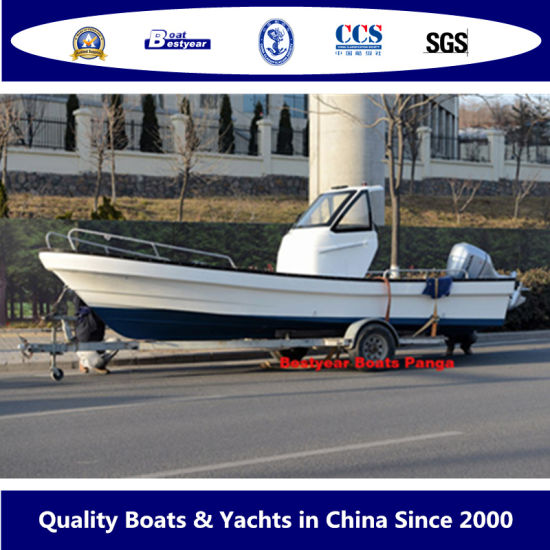 Bestyear 23FT Fiberglass Fishing Boat of Panga with Hardtop