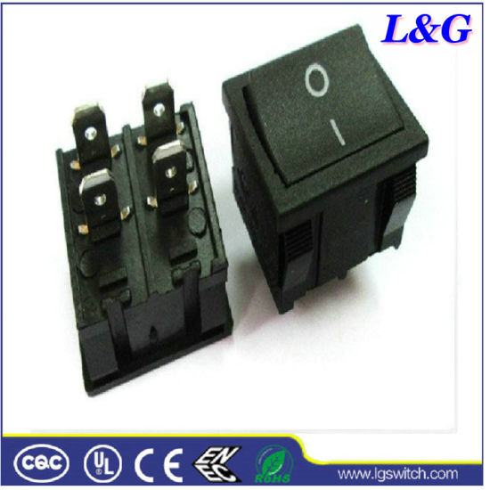 Double Pole 16A250VAC Micro Pushbutton Rocker Paddle Switch