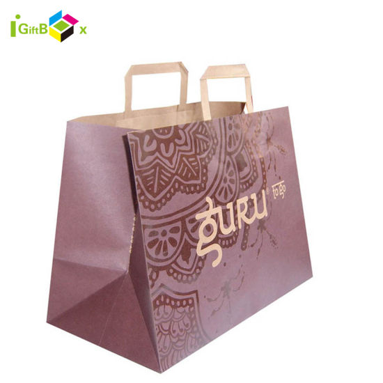 Full Color Printing Paper Shopping Bags with Handle