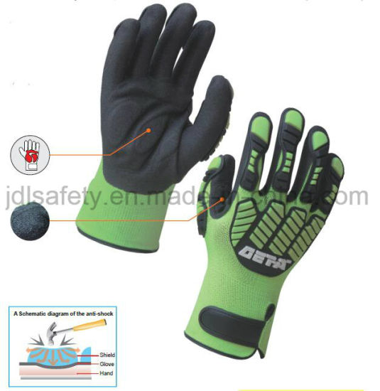 Personal Protective Mechanical Durable Safety Anti-Impact Work Glove with TPR (TPR9003)