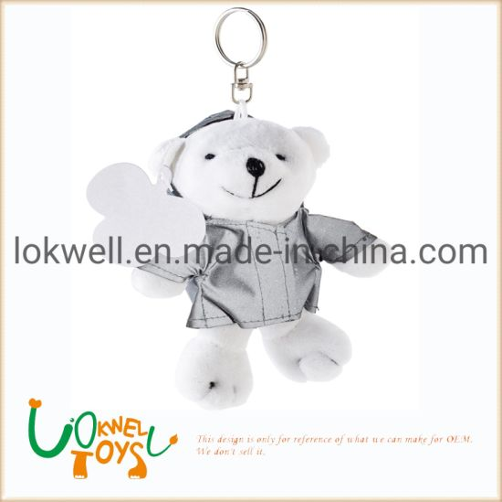 Stuffed Animals Reflective Plush Bear Keychains Plush Toys