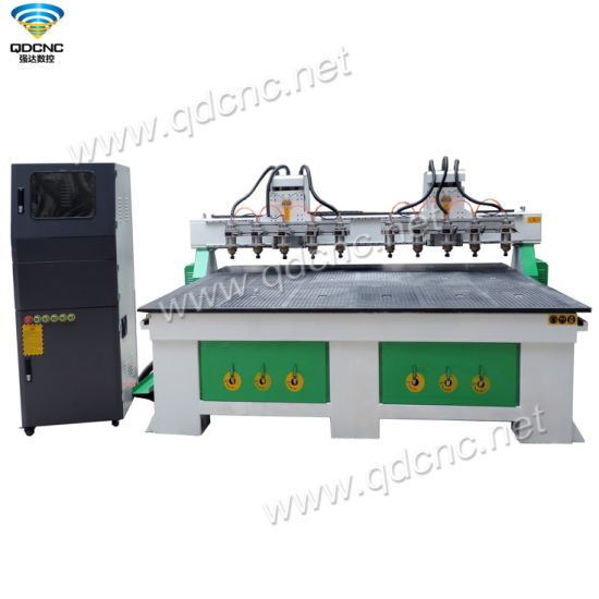 China Cheap 10 Spindles CNC Router Engraving Machine with DSP A11s Controller QD-2025-2h10