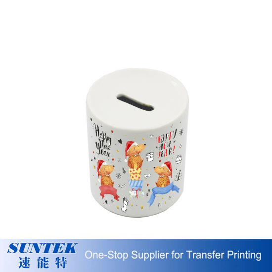 Sublimation Custom Logo Ceramic Money Boxes Coin Bank Coin Boxes
