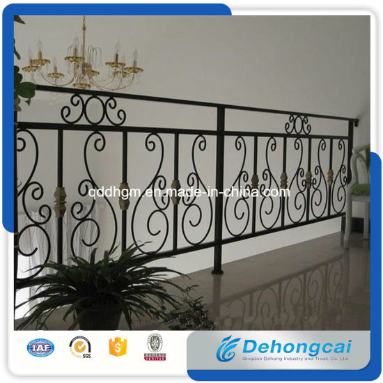 Classic Household Wrought Iron Terrace Railing Designs pictures & photos